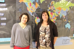 Ma Rowena Sargento and Elizabeth Lowrance (ELL teachers)